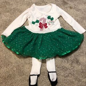 Holiday editions candy cane/ Christmas outfit 3T